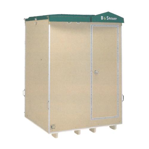 【ハマネツ】 仮設屋外風呂シャワーユニット 浴槽付 側面扉 [FS2-23RB]